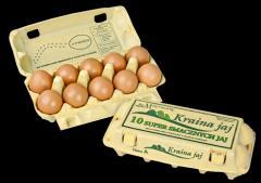 Jaja konsumpcyjne chowu klatkowego , opakownie detaliczne 10 szt na jaja kl.M