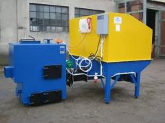 Автоматически устанавливает для сжигания биомассы