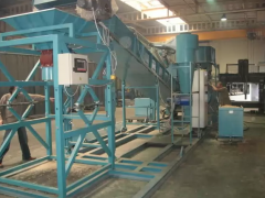 Equipment for grinding wet granules