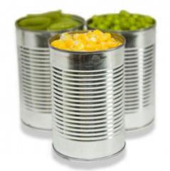 Canned vegetables, natural