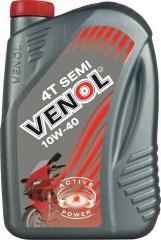 Semi-synthetic motor oil for motorcycles