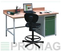 Biurko warsztatowe - zabudowa moduł C