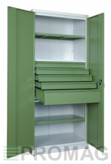 Tool cabinet SN880/2S1 welded from steel sheets