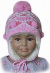 Czapka dziecięca zimowa z szalikiem 3698