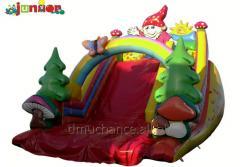 Inflatable slides, trampolines