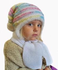 Czapka dziecięca zimowa z szalikiem 3239