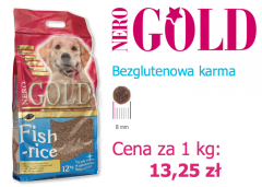 Bezglutenowa Karma Nero Gold Fish & Rice