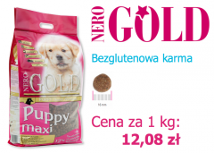 Bezglutenowa Karma Nero Gold Puppy Maxi 12 kg