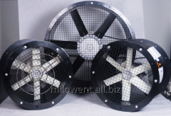 Fan for onions, potatoes, tobacco storage units,