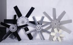 Propeller fan for tabacco and wood drying
