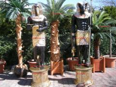 """Egypt Gods """"Anubis"""" in all its glory 240cm, incredible hand-painted sculpture"""