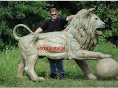 2 Mega huge palatial Lions of brązu260cm - Unique