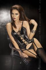 Bravuro corset - super sexowny gorset skórzany z