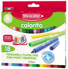Pisaki COLORITO NEW 18 kolorów Fibracolor