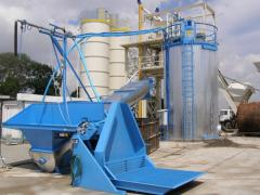 Plants for the processing of residual concrete