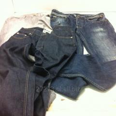 Spodnie damskie jeans, modna odzież używana, hurt ubrań.