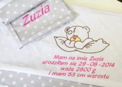 Pościel dla dzieci z haftem indywidualnym