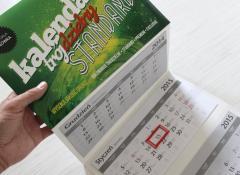 Kalendarze trójdzielne STANDARD Wypukła Główka od