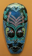 Maska drewno tekowe malowana kolor
