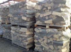 Firewood in sacks