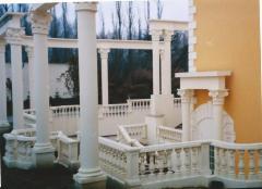 Tralki betonowe ozdobne na balustrady o różnych