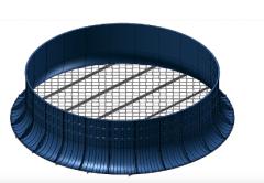 Doloty do montowania w ukłdach tłoczących urządzeń wentylujących
