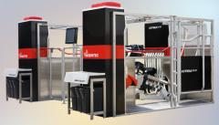 Units vacuum for machine milking cows