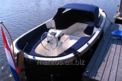 Stylish boat with the open deck and interneal