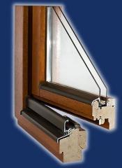 Okna drewniane system 1