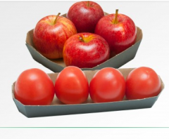 Cardboard trays for confectionery and vegetables