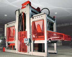 Machines for the production of concrete slabs