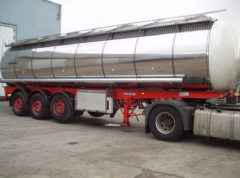 Tank trucks for liquid foods