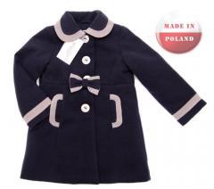 Cudowny, elegancki płaszczyk dla dziewczynki. Kolekcja NAT&TOM.
