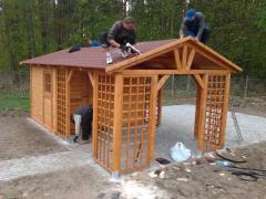 Domek drewniany z altaną 3,5x6m