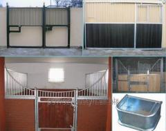 Stables for horses with complete equipment