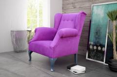 Wygodny przepiękny fotel LOUVRE