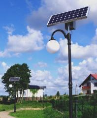 Lampa solarna DECOR LED 4m / LED 5W / panel 50W