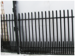 Brama z kątownika z furtką i ze słupkami 4 m + 1 m