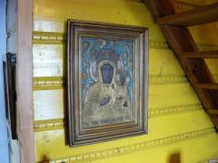 Matka Boska w oryginalnej, przepięknej ramie.