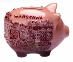 Pamiątka z Warszawy Skarbonka