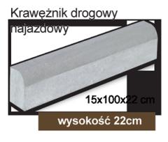Krawężnik najazdowy 150x1000x220mm