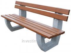 Concrete bench with a backrest cat. No. 179
