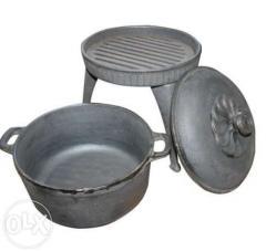 Kociołek żeliwny garnek grill żeliwny