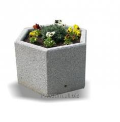 Hexagonal street concrete flower pot