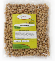Chickpeas packed in bags
