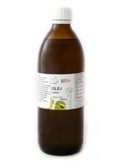 Bottled linseed oil with high omega content