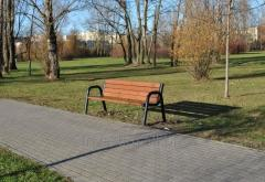 Steel park bench with a backrest cat. No. 156ZO