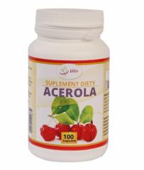 Acerola pills, natural source of vitamin C