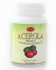 Acerola w tabletkach, naturalne źródło witaminy C