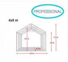 Namiot Professional 4x8x2,6m